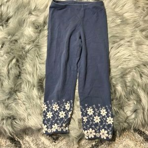 Old Navy blue leggings w/white flowers